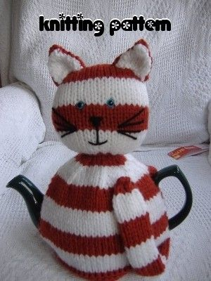 Cat Tea Cosy Knitting Pattern $4.43 on Etsy at http://www.etsy.com/listing/71599448/cat-tea-cosy-knitting-pattern