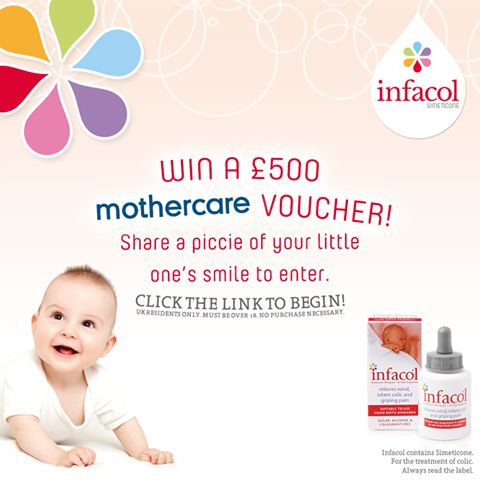 Win a £500 mothercare Voucher! Share a picture of your little one's smile on the Facebook page to enter!