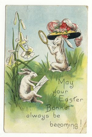 how to make an easter bonnet out of card