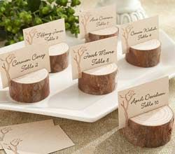 Wood Place Card/Photo Holder - Ourdoor Wedding Decorations by Kate Aspen