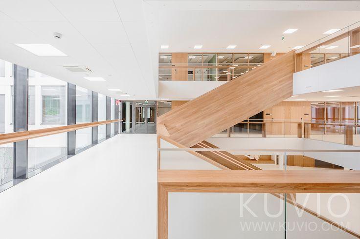 Interior of Ruusupuisto, University of Jyväskylä. Design by SARC Architects.