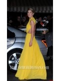 Rosamund Pike Yellow Evening Dress 'Jack Reacher' World Premiere Backless Gown - TheCelebrityDresses