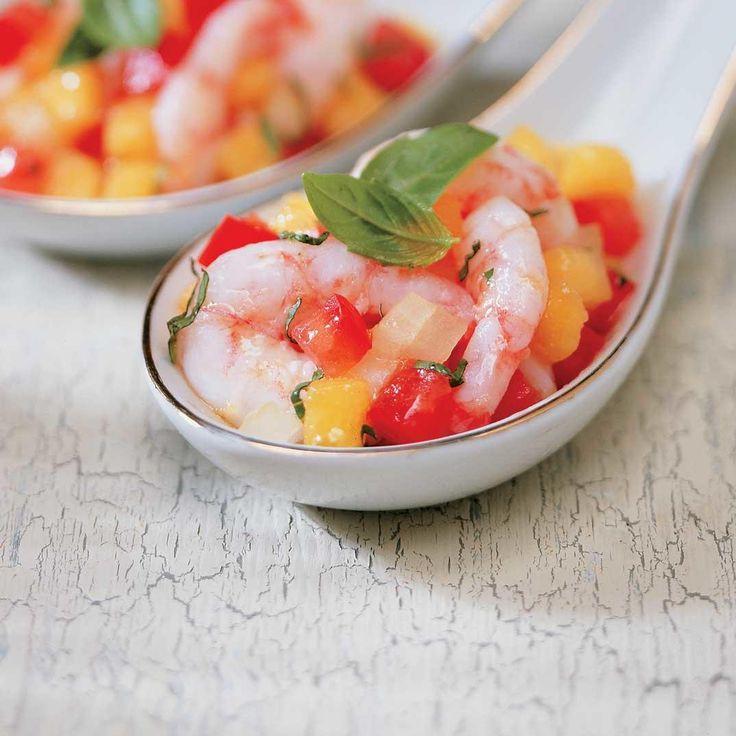 Crevettes et salsa à la mangue
