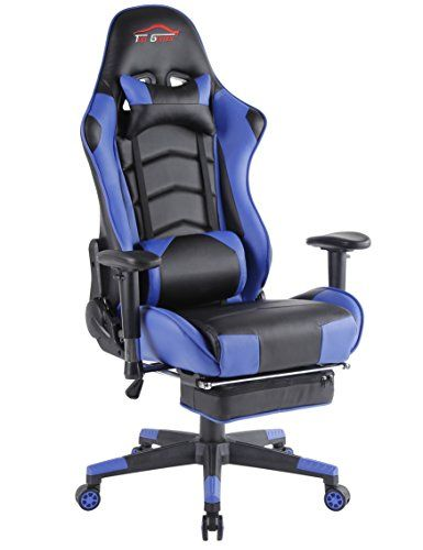 Desk Chair Footrest Antique Nursing Rocking Value 9 21 2018 Big Gaming Ergonomic Computer Office With Blue Black 1 Gamingchairs