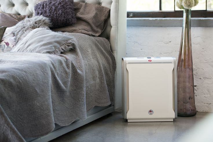 Stylish and cozy bedroom. Sleep well and breath fresh air with Lux Aeroguard 4S Air Purifier. Recommended by expert.