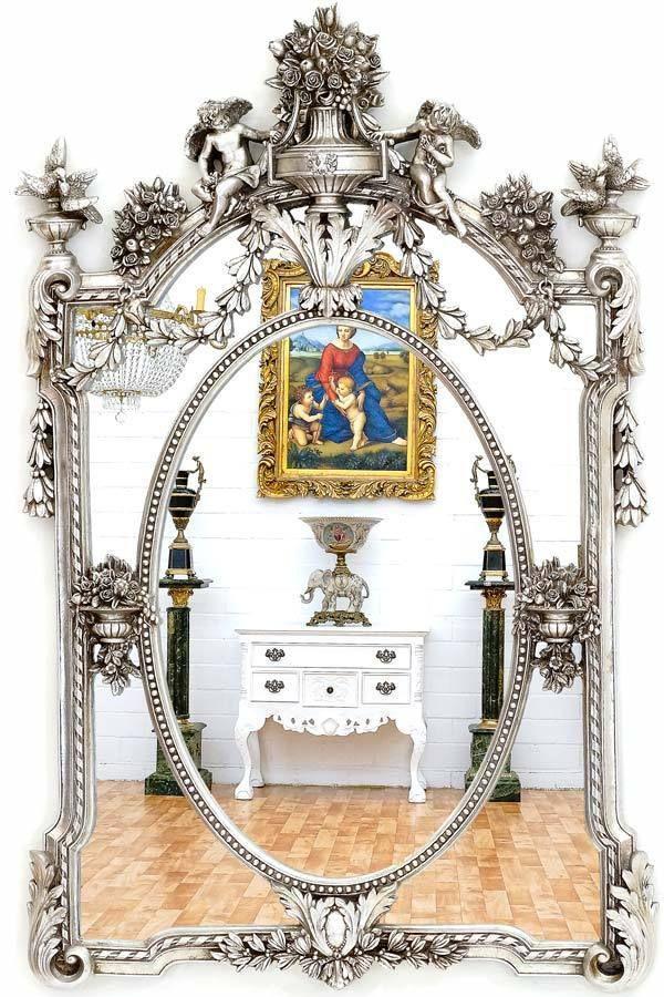 17 meilleures id es propos de miroir baroque sur for Miroir argent baroque