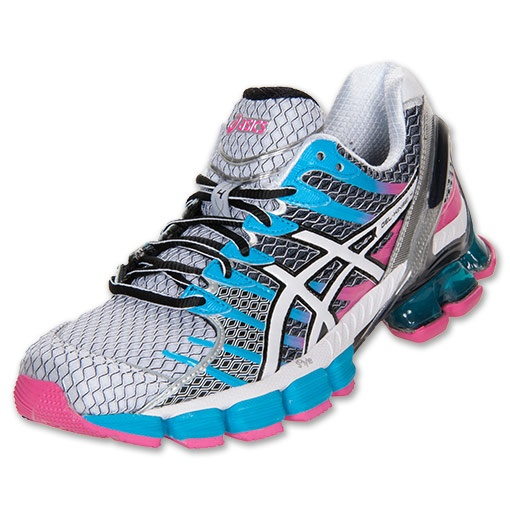 asics gel kinsei 4 white snow pink