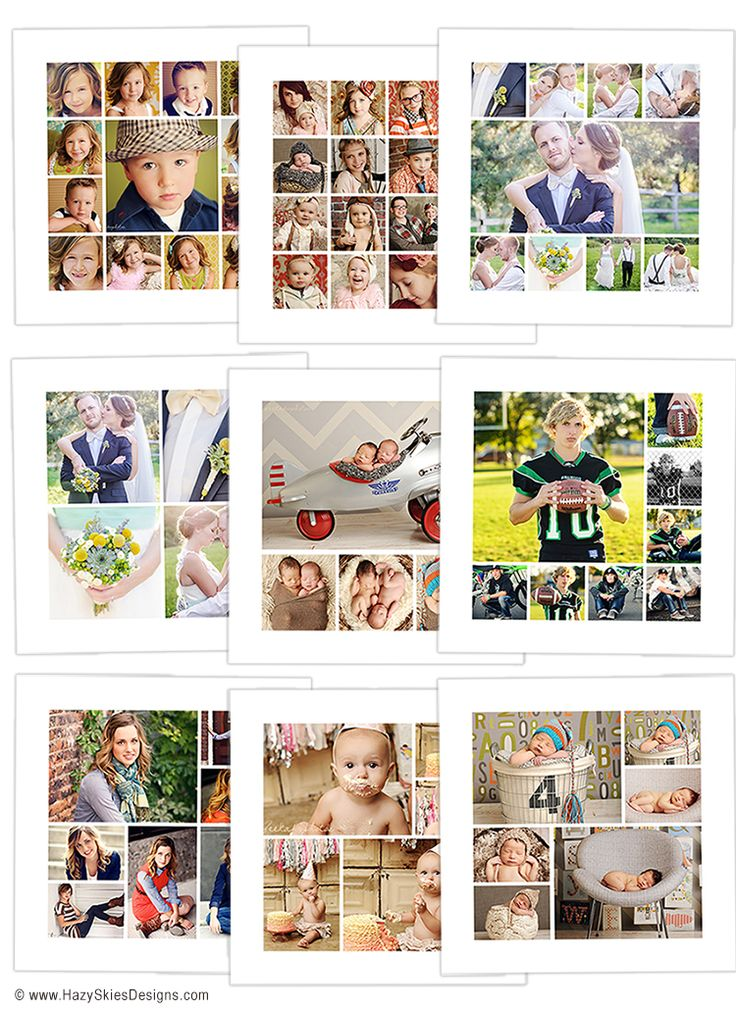 story board collage template for photographers digital photography template collage. Black Bedroom Furniture Sets. Home Design Ideas