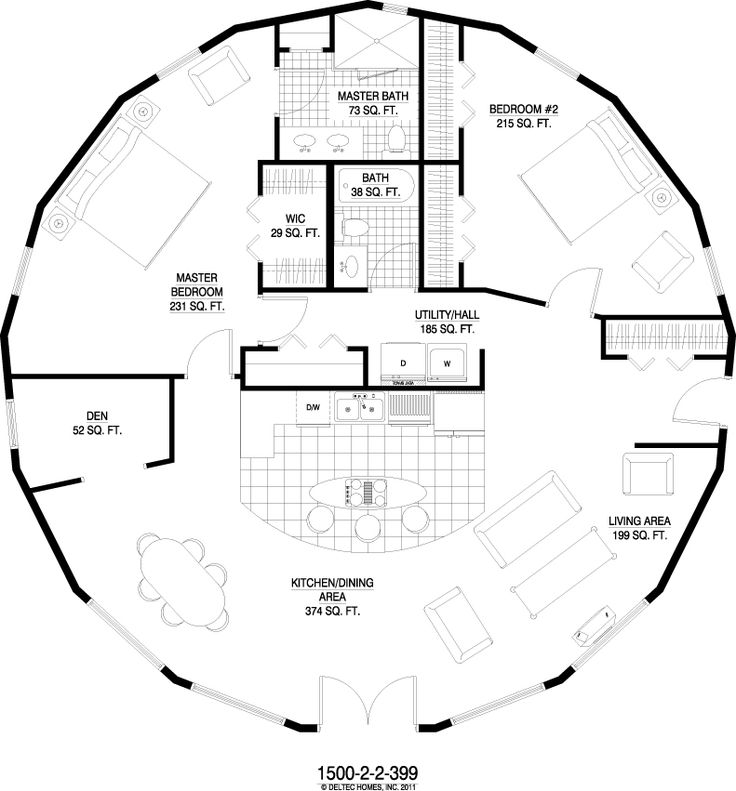 Deltec Homes Chesapeake 1 Story 1500 Sq Ft House Of: yurt house plans