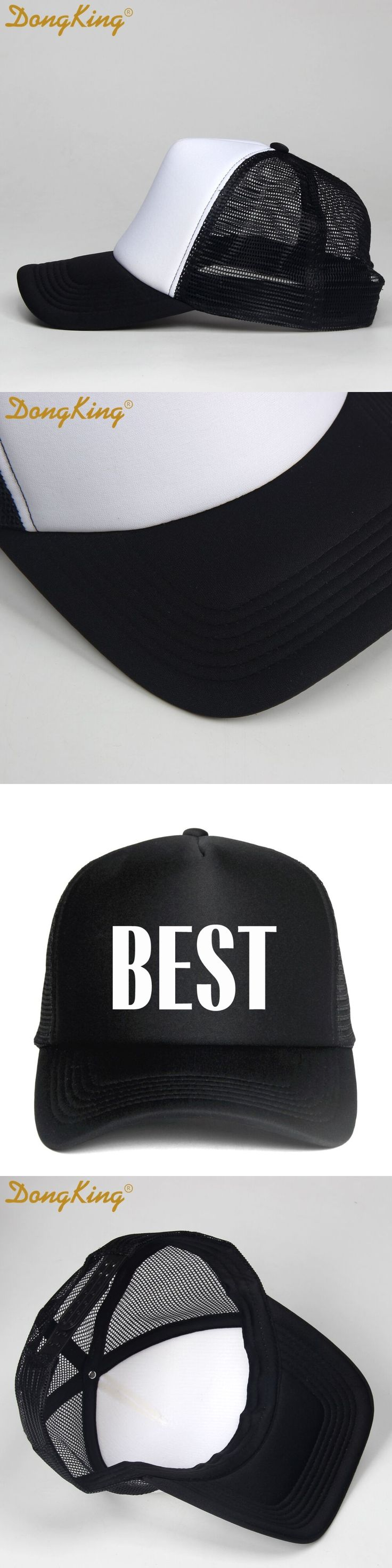 DongKing Brand Fashion Best Friend Hats Mesh Couple Hats Unisex Baseball cap Trucker Best Friend Gift