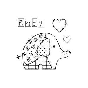 "Sello transparente ""elefante patchwork"""