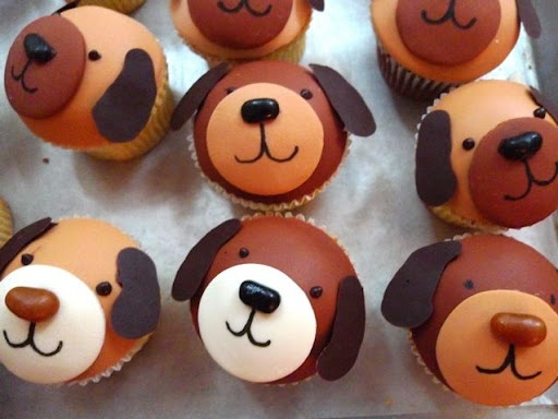 dog cup cakes