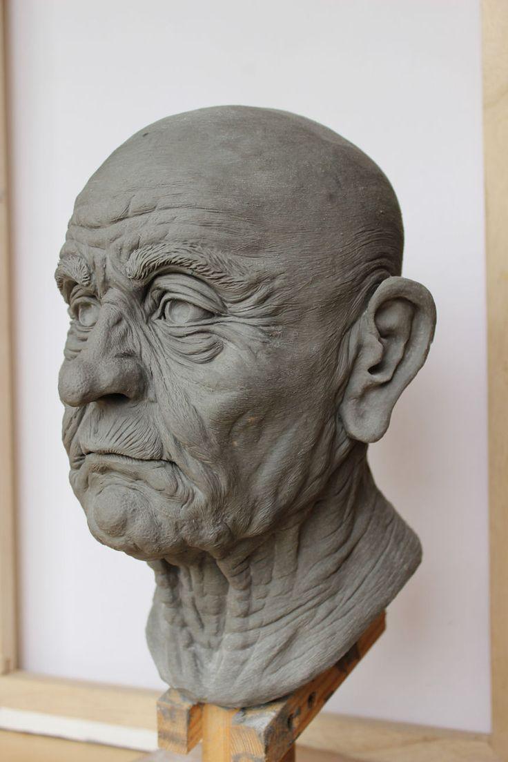 Old Man - Head Sculpture Kate Arthur