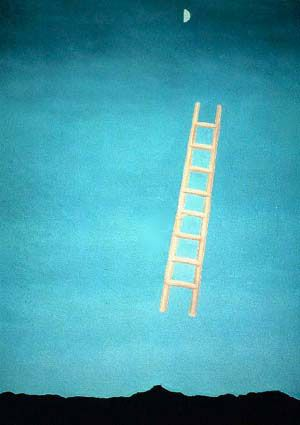 ladder to the moon by georgia okeeffe