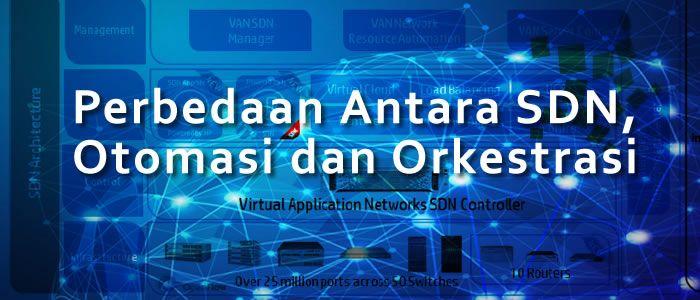 perbedaan antara jaringan SDN dengan otomatisasi dan orkestrasi