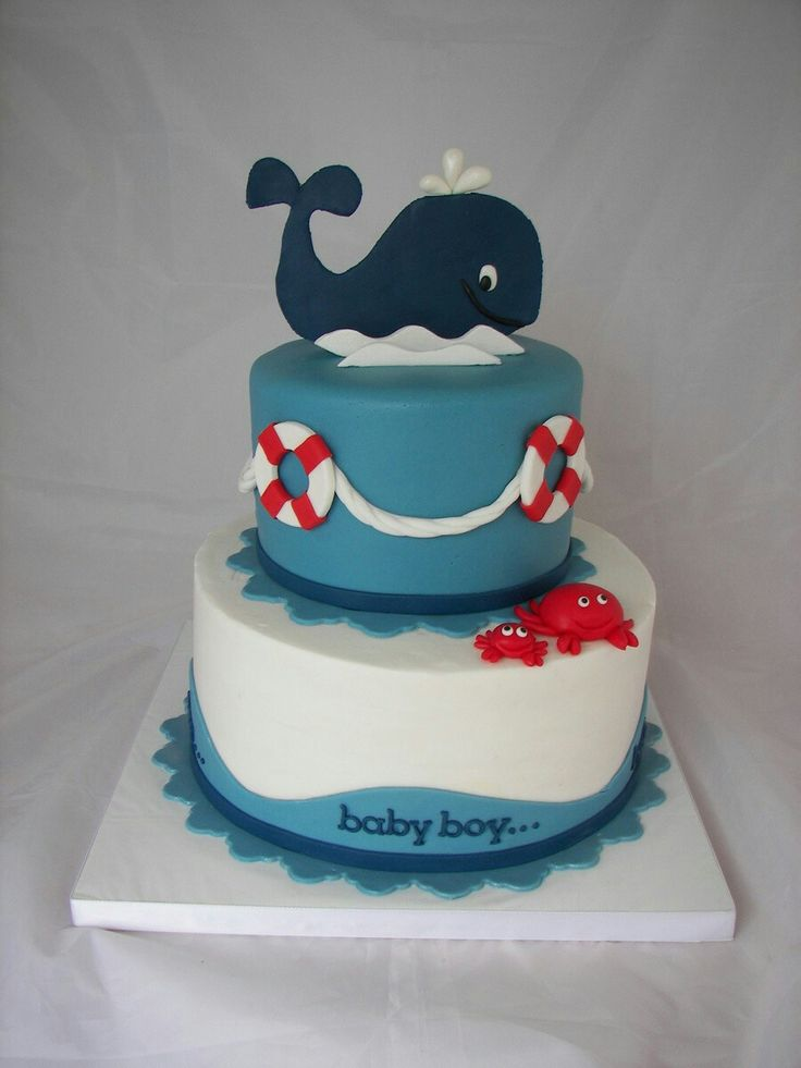 Wale baby shower cake