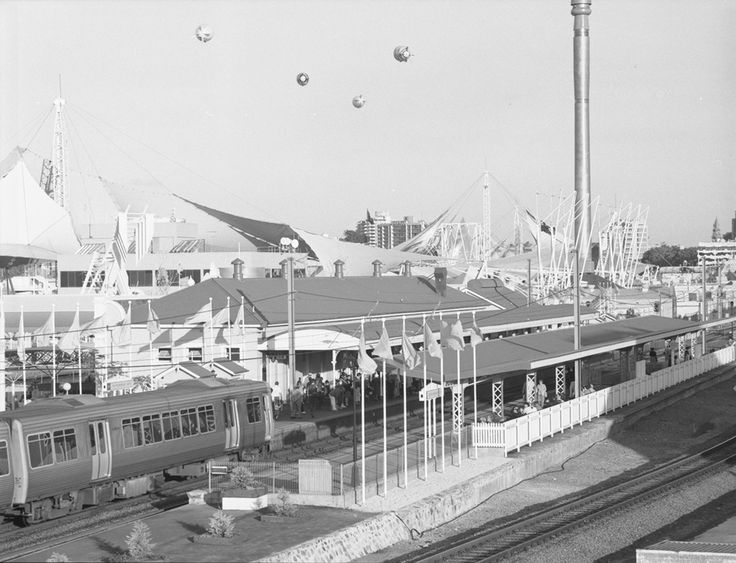 Pic of the week: Remember this? Caption: South Brisbane station during Expo 88.