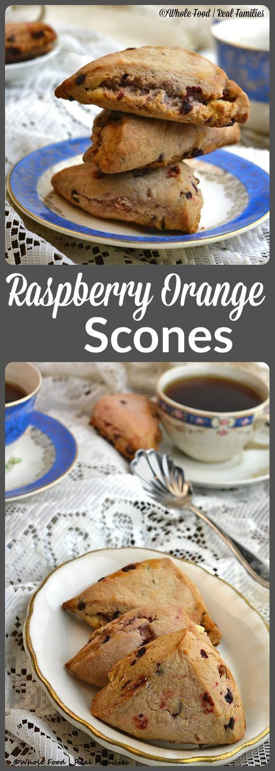 Raspberry Orange Scones are fruity, lightly sweet and delicious!! A perfect wholesome breakfast, snack or dessert.