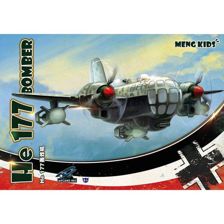 1x MENG KIDS mPLANE-003 He 177 Bomber Q Edition] Plastic Model Kit QWR, in [Toys & Games, Model Kits, Models | eBay