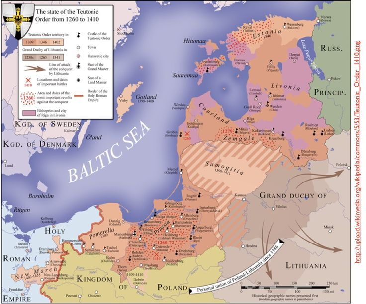map teutonic order 1260 1410