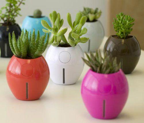 Горшки для цветов с автополивом Grobal Self Watering Planter, дизайн Карима Рашида