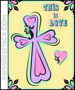 Cross - Heart - Bible Color Sheet for Sunday School from www.daniellesplace.com