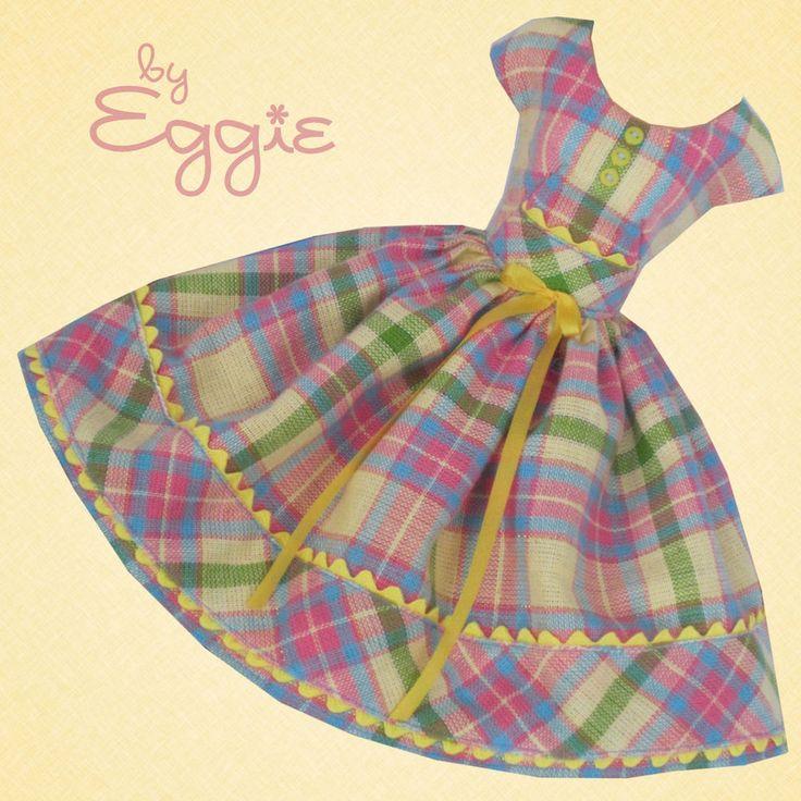 Candy Plaid  - Vintage Barbie Doll Dress Reproduction Repro Barbie Clothes