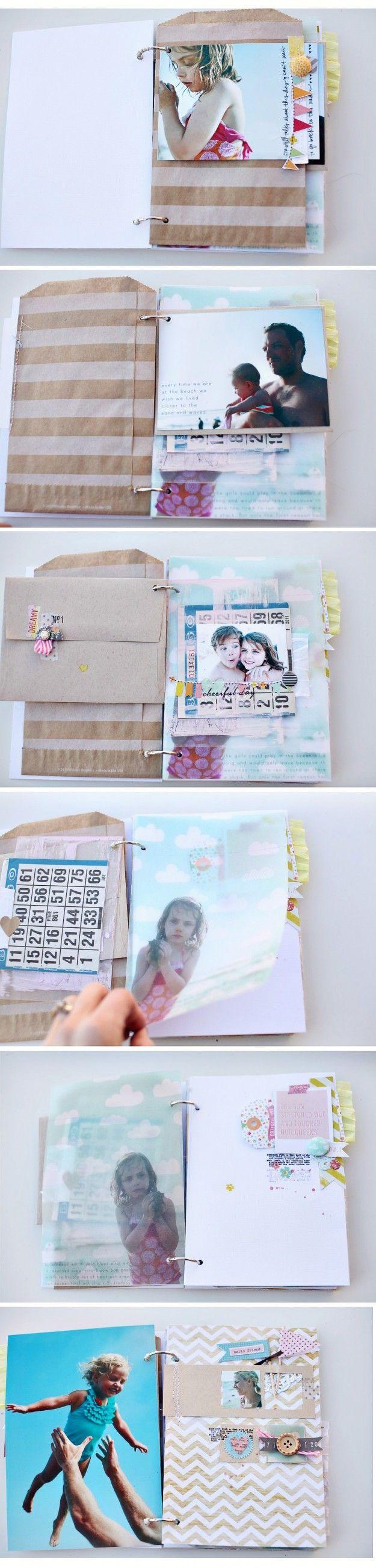 Scrapbook ideas mini books - Come With Me Mini Album Pt 1 Glasine Bags
