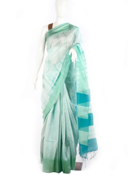 This light blue shibori saree will remind of the beautiful light blue skies and cotton ball clouds. Drape it and have a wonderful day at work. For more simple yet stylish saree visit @ RedPolka