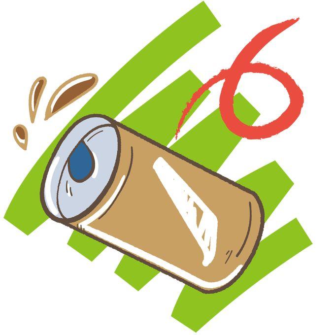 ゴミのポイ捨て 紙屑、缶コーヒー、缶ジュースのポイ捨て