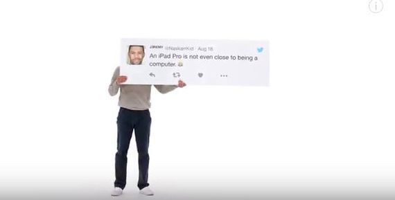 Apple slams PCs in new iPad Pro ad campaign     - CNET Technically Incorrect offers a slightly twisted take on the tech thats taken over our lives.  Enlarge Image  Oh but it is. Allegedly.                                                      Apple/YouTube screenshot by Chris Matyszczyk/CNET                                                  It used to be that Apple would look at PCs and smirk.  Then along came the iPad Pro which Cupertino suddenly insisted was actually a computer.   On Friday…