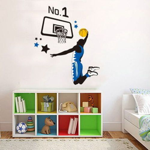 Basketball player backboard diy #removable room decor decal #mural wall #stickers,  View more on the LINK: 	http://www.zeppy.io/product/gb/2/222098615617/