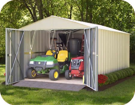 Arrow 10x15 Mountaineer Metal Storage Shed Kit
