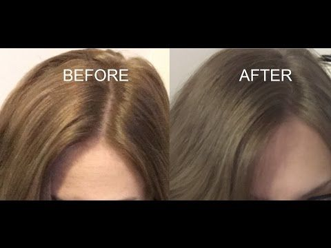 HOW TO TONE BRASSY DARK HAIR - YouTube - using Joico Vero K-Pak Color Intensity Titanium semi-permanent grey hair dye (diluted with 2 parts conditioner for dark  blonde hair, no developer) #toptips