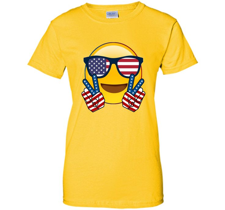 Cute Emoji TShirt For Independence Day US Flag