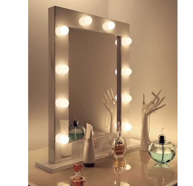 Standing Mirror In Bedroom With Lights