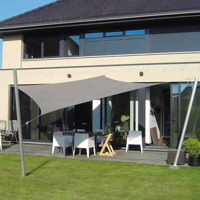 sonnensegel terrassenbeschattung sitzecke rechteckig maßgefertigt