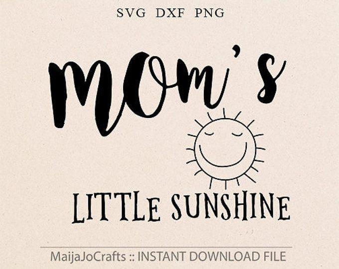 Mamas Little Sunshine SVG Datei Cricut downloads zum Ausdrucken Clipart Baby Svg Kindergarten Svg Baby Mädchen zitieren Mamas kleines SVG Cricut Dateien