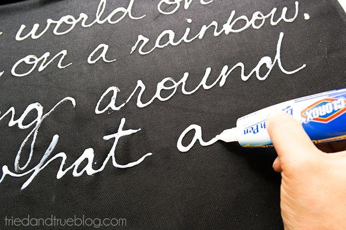 Love Song Bleached Scarf Tutorial - Bleach Pen