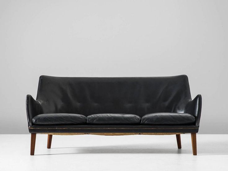 Modern Sofa Best Black leather sofas ideas on Pinterest Black leather couches Industrial sleeper sofas and Restoration hardware lamps