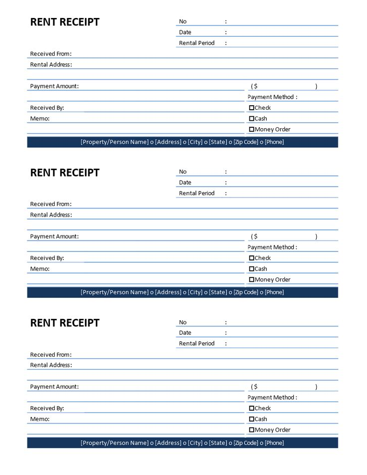Rent Receipt template - Download this printable Rent Receipt template if you are you renting out your house or venue to a tenant and need to give a rent receipt. Easy to use.