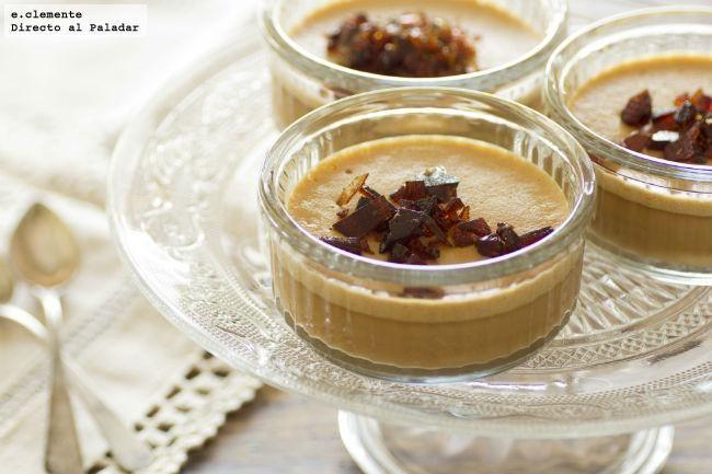 Crema de caramelo con praline