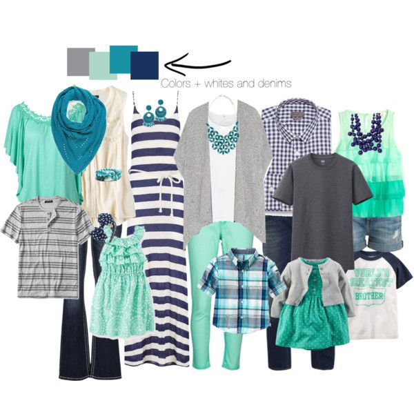 Family photo set- grays/aqua/navy/turquoise by jamie-lovsky-staples-twaddell on Polyvore featuring Phase Eight, American Eagle Outfitters, H&M, Vivienne Westwood Anglomania, Zhenzi, Levi's, maurices, Current/Elliott, Kenneth Jay Lane and Hring eftir hring