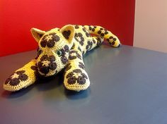 Ravelry: Lazy Leopard - African Flower Cat pattern by e Raitoharju