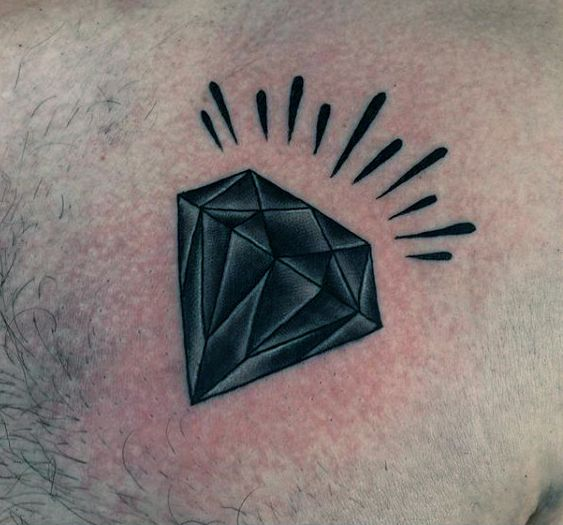 50 Traditional Diamond Tattoo Designs For Men