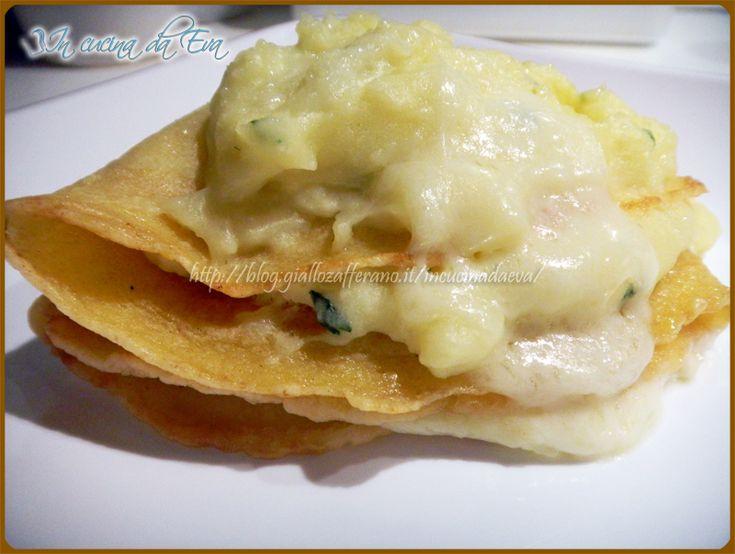 Crespella con patate prezzemolo formaggio