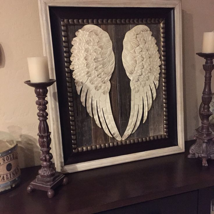Amazing 40 angel wings wall art decorating design of best for Angel wall decoration