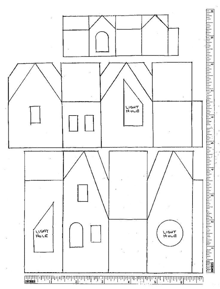 188 Best Putz Glitter House Plans Images On Pinterest