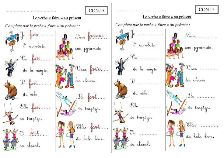 CONJ 5 CE1 : le verbe faire au présent - La classe des CE de Villebois