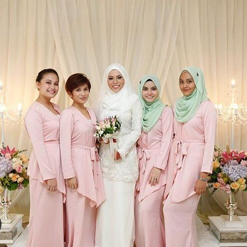 Baju bridesmaid - Jimat, satu jenis kain only